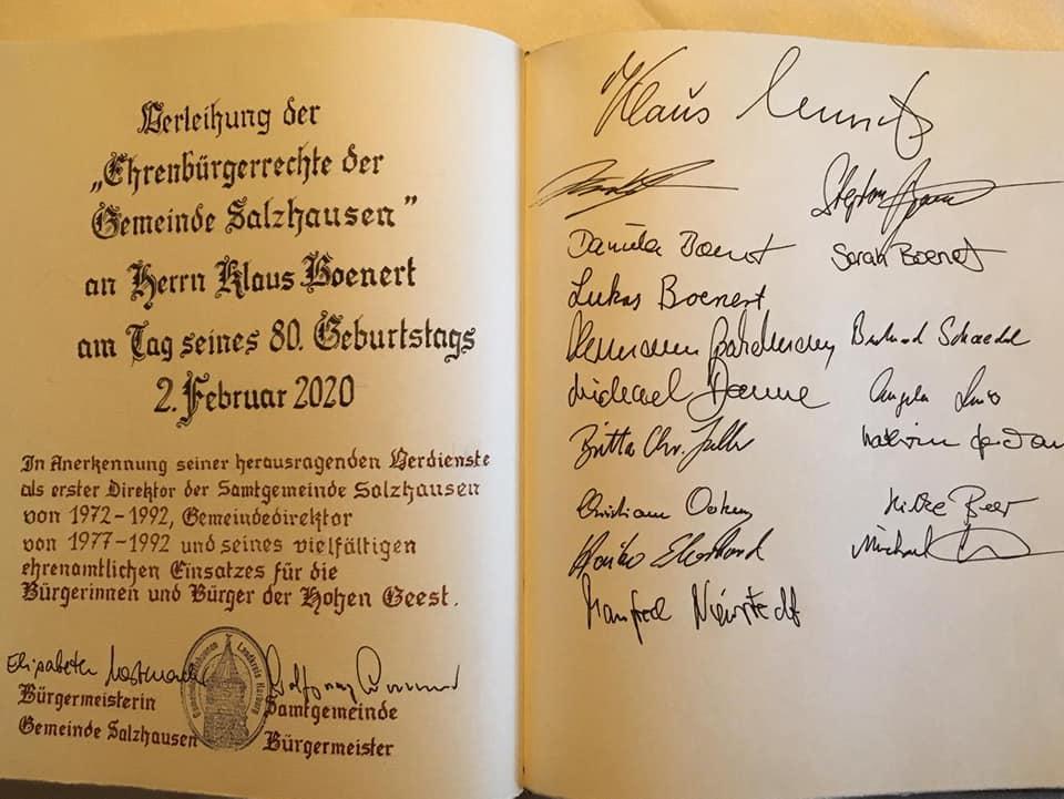 Ehrenbürger im Goldenen Buch